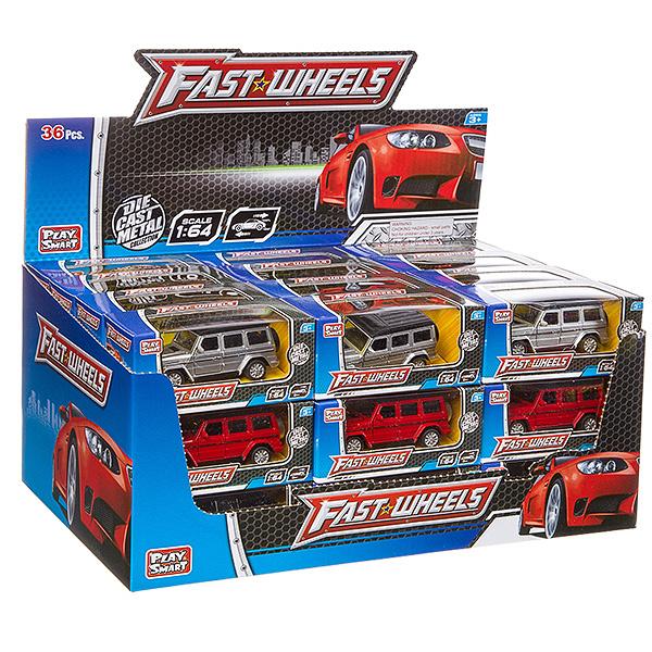 Купить Набор металлических инерционных машин Play Smart Fast Wheels 6593W, 36 шт., PLAYSMART, Игрушечные машинки
