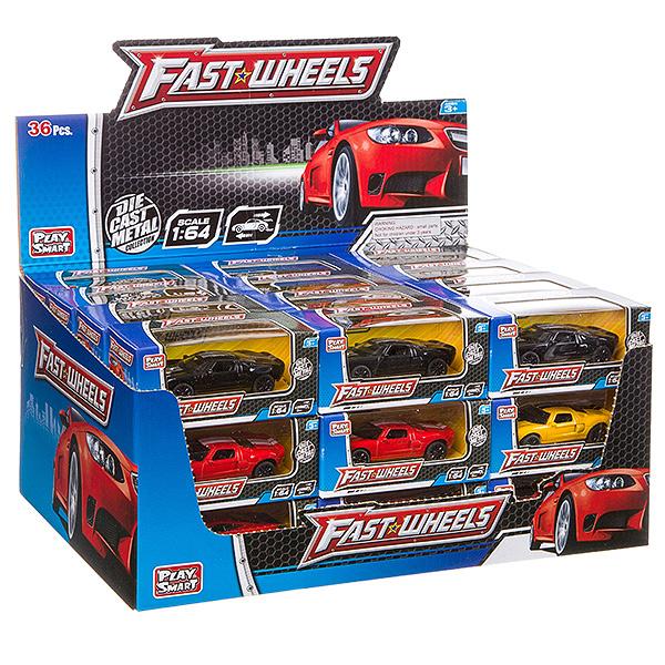 Купить Набор металлических инерционных машин Play Smart Fast Wheels 6590W, в ассортименте, PLAYSMART, Игрушечные машинки