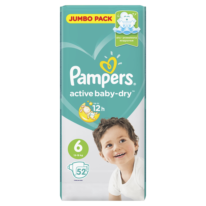 Купить Подгузники Pampers Active Baby-Dry Extra Large (13-18 кг) 52 шт.,