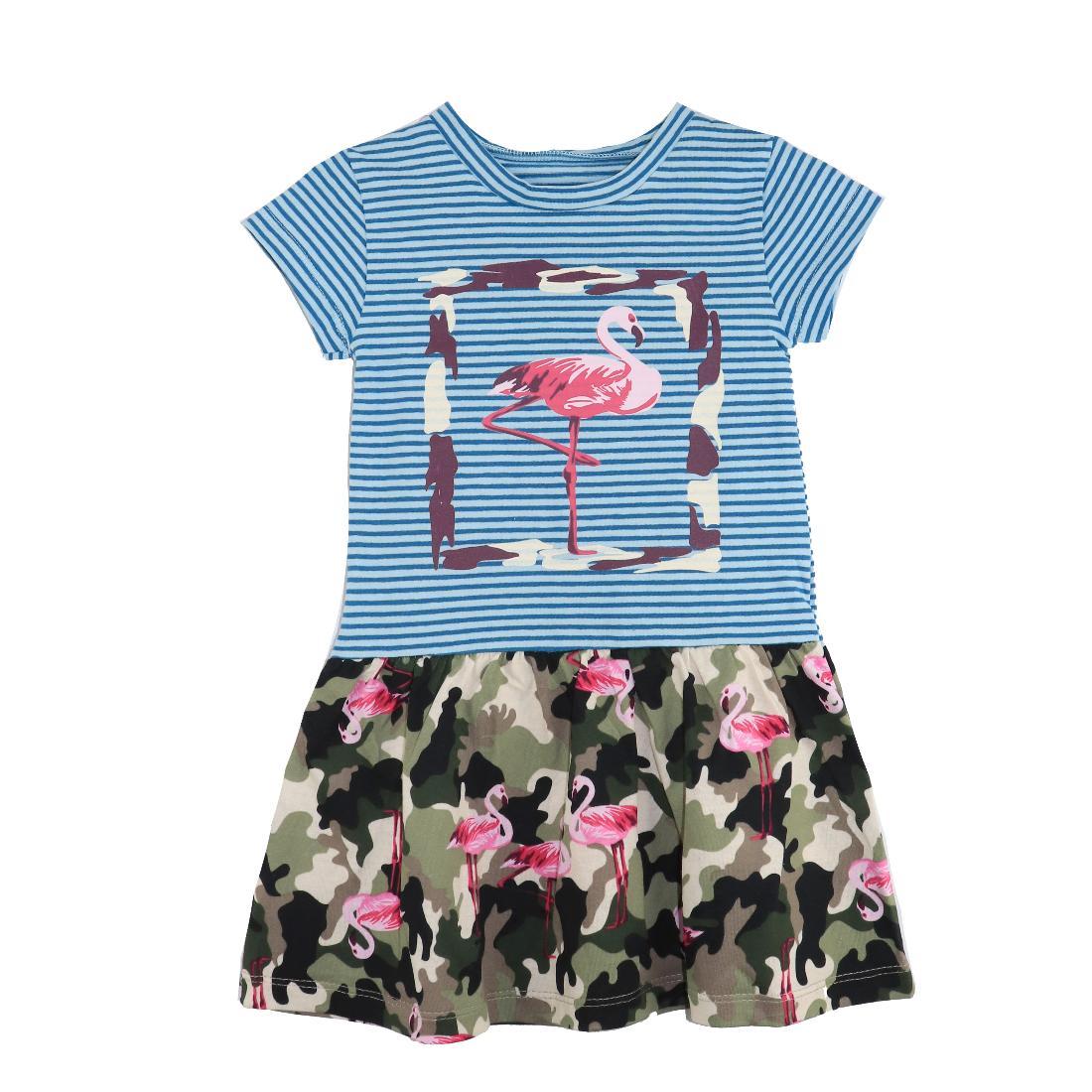 Купить 609к ап, Платье детское Юлла, цв. голубой р. 122, Платья для девочек