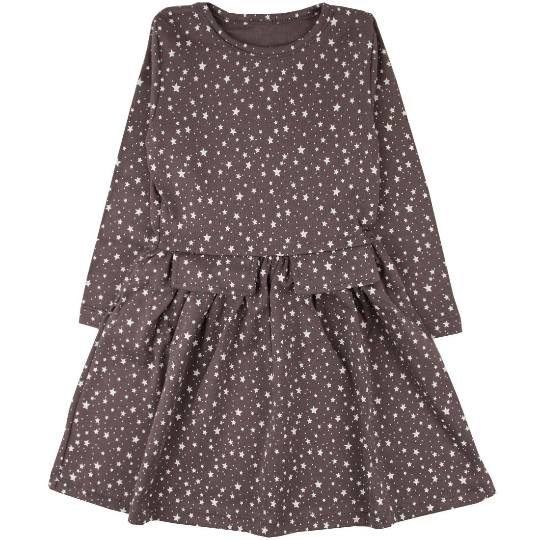 Купить 529и, Платье детское Юлла, цв. коричневый р. 122, Платья для девочек