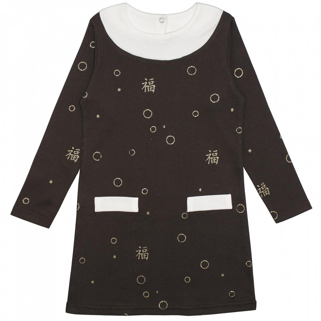 502и, Платье детское Юлла, цв. коричневый р. 122, Платья для девочек  - купить со скидкой