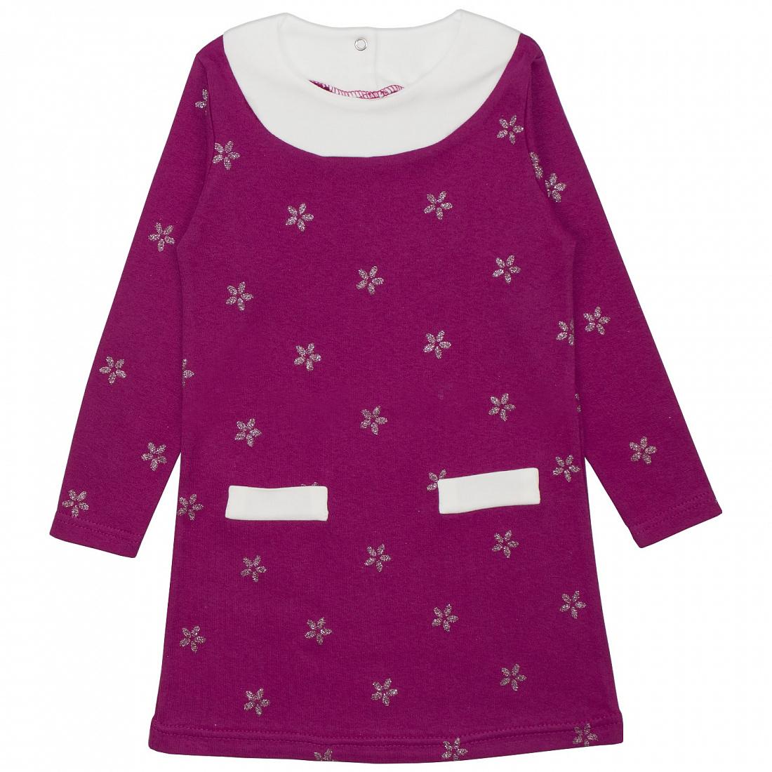 Купить 502и, Платье детское Юлла, цв. розовый р. 122, Платья для девочек