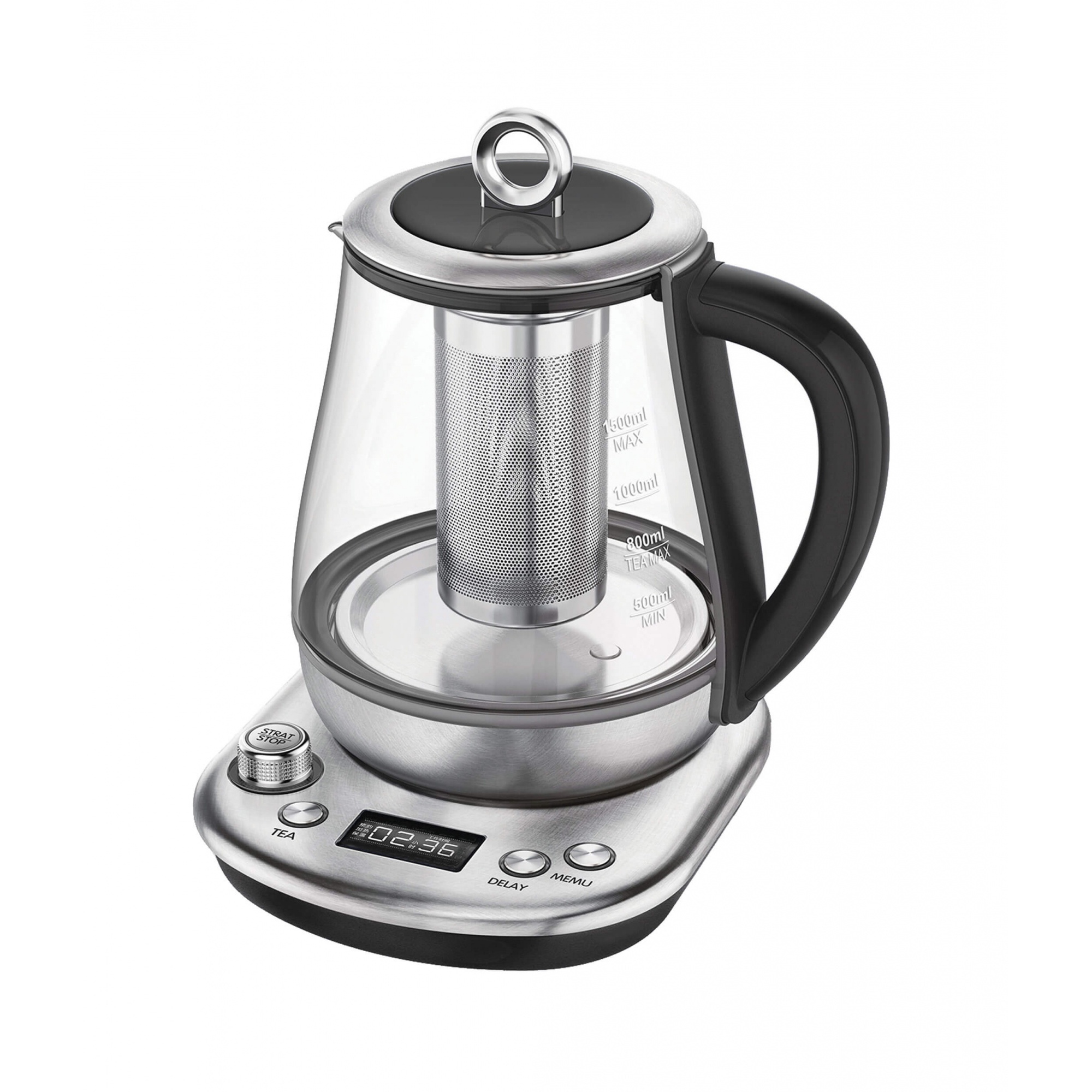 Чайник электрический Gemlux GL TK1598 Silver