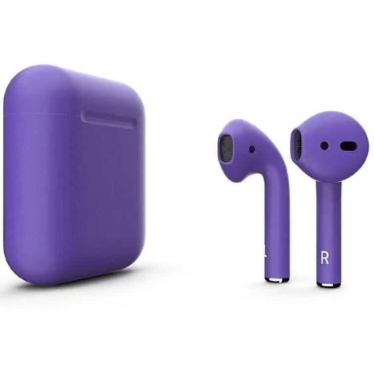 Наушники Apple AirPods Color 2 в футляре без беспроводной зарядки (Purple Matte) фото