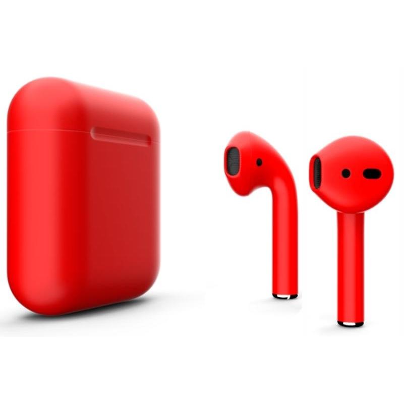Наушники Apple AirPods Color 2 в футляре без беспроводной зарядки (Red Matte) фото