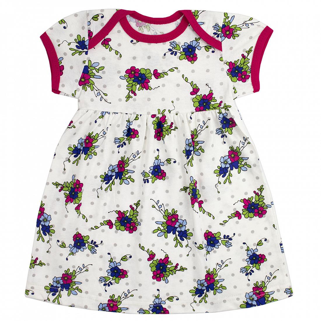 Купить 212К, Платье детское Юлла, цв. белый р. 92, Платья для новорожденных