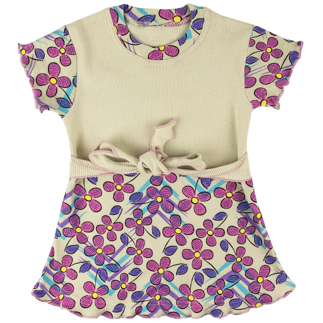 Купить 133К, Платье детское Юлла, цв. бежевый р. 110, Платья для девочек