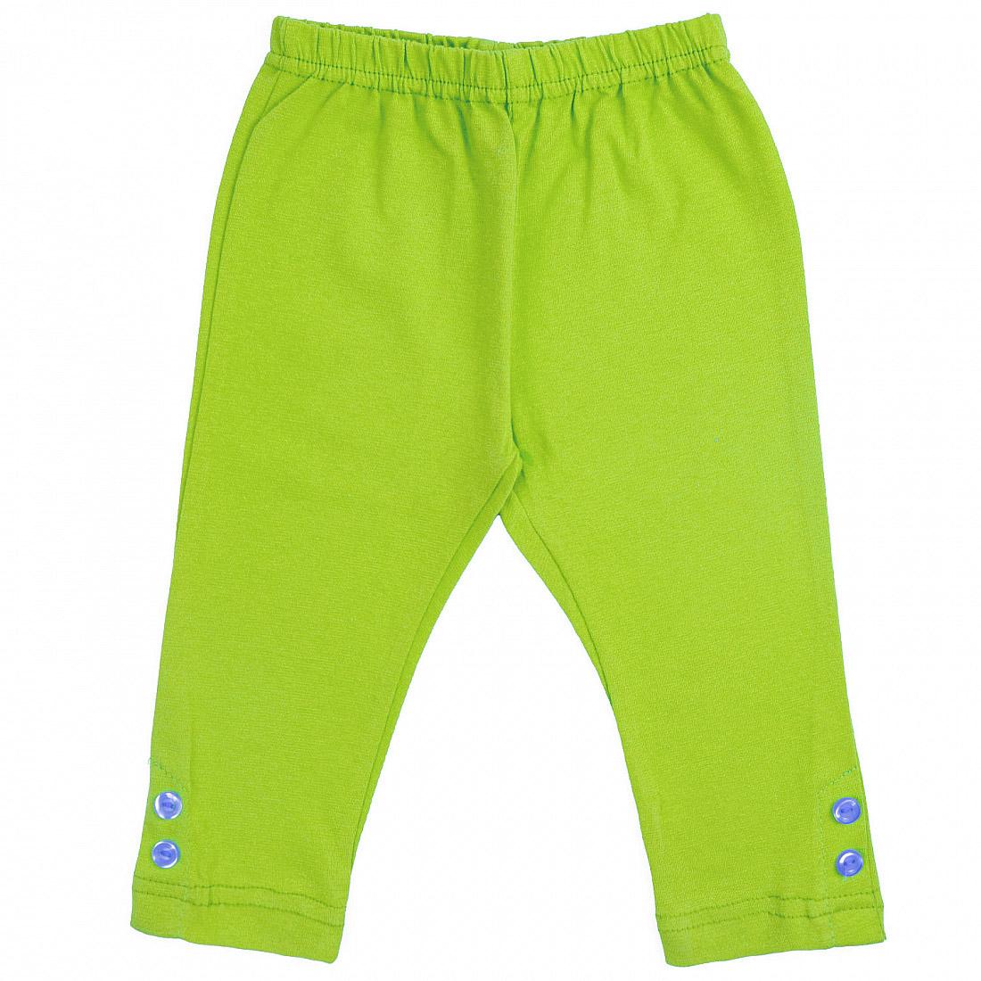 Купить 228р, Леггинсы детские Юлла, цв. зеленый р. 92, Шорты и брюки для новорожденных