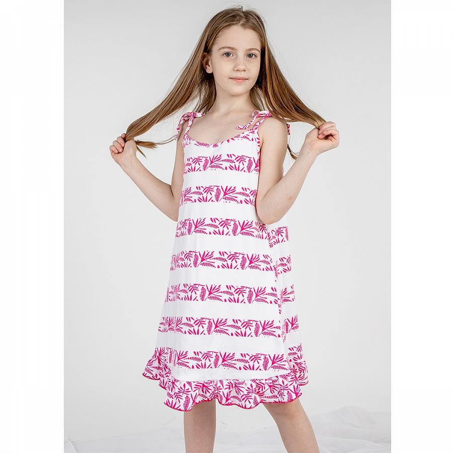 Купить 090п пол, Сарафан детский Юлла, цв. розовый р. 134, Сарафаны для девочек