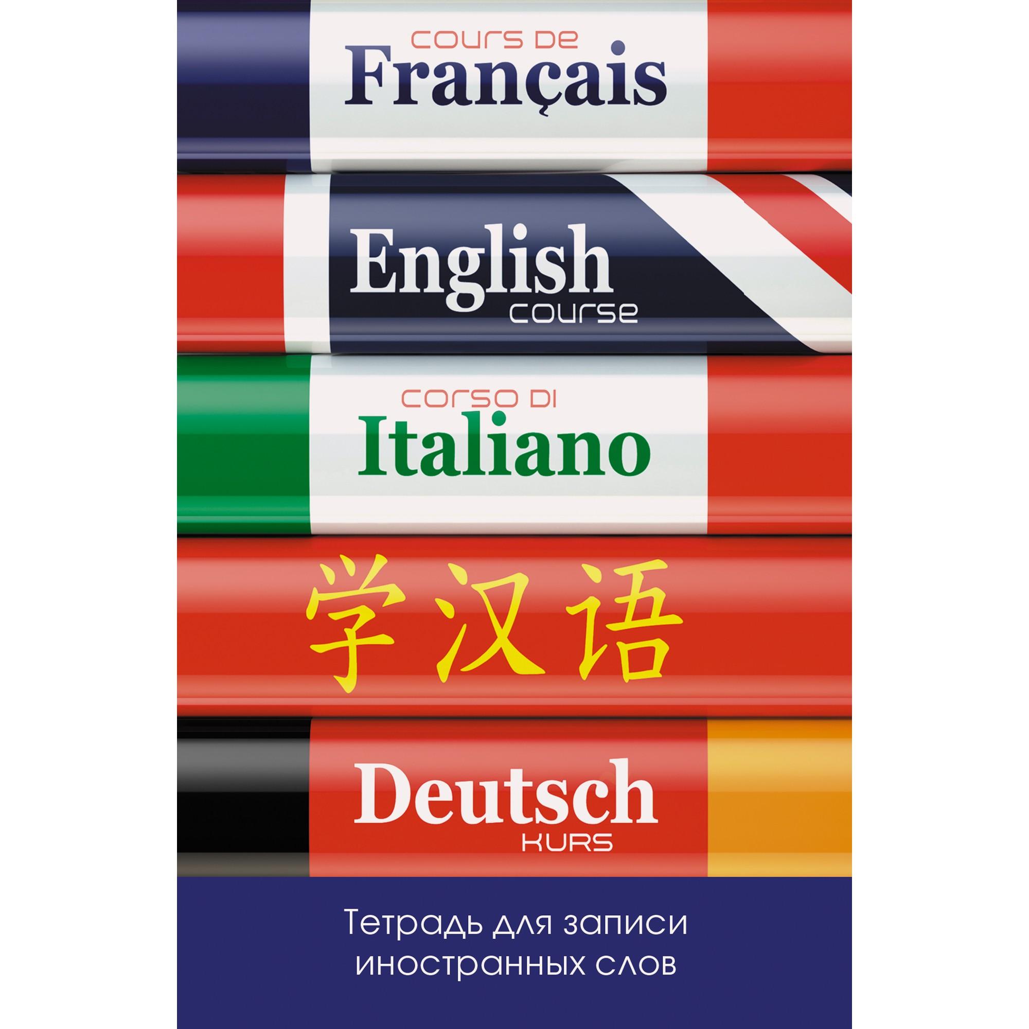 Тетрадь для записи иностранных слов Unnika Land Изучаем языки (А6, 48л, скрепка) ТИС64827