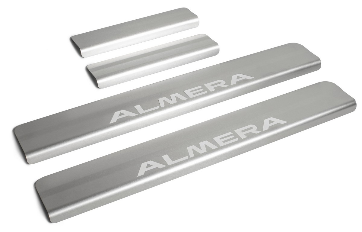 Накладки порогов Rival Nissan Almera III