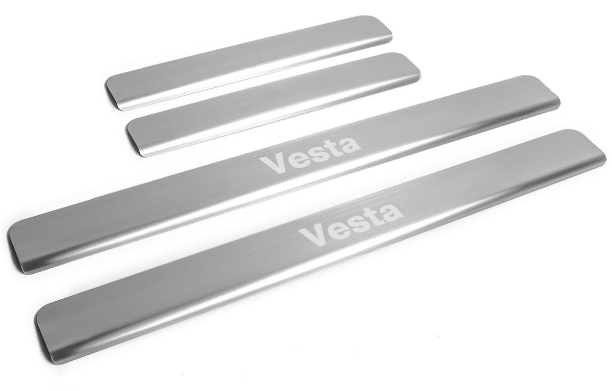 Накладки порогов Rival Lada Vesta SD,