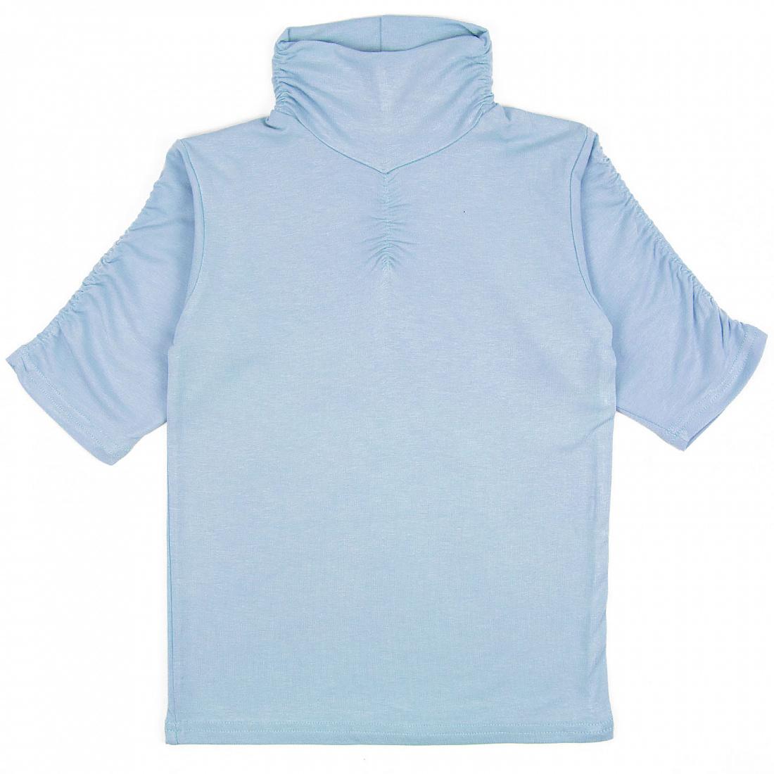 Купить 250ВС, Водолазка детская Юлла, цв. голубой р. 134, Водолазки для девочек