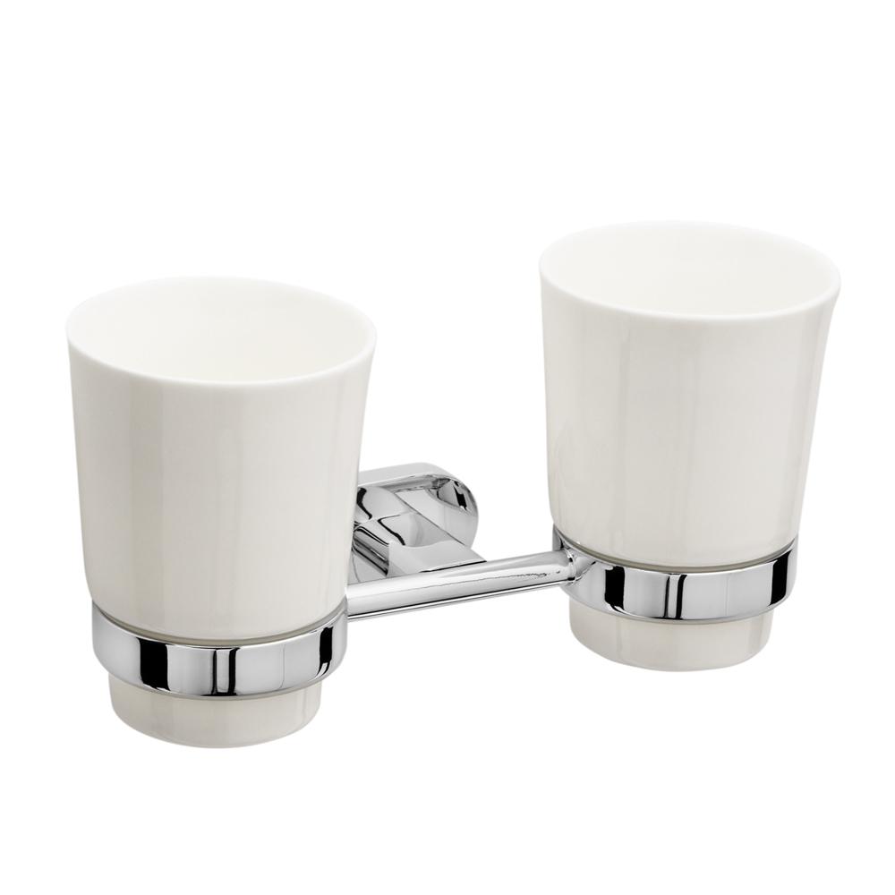 Держатель с 2-мя стаканами Raiber R50103, керамический R50103 по цене 2 017