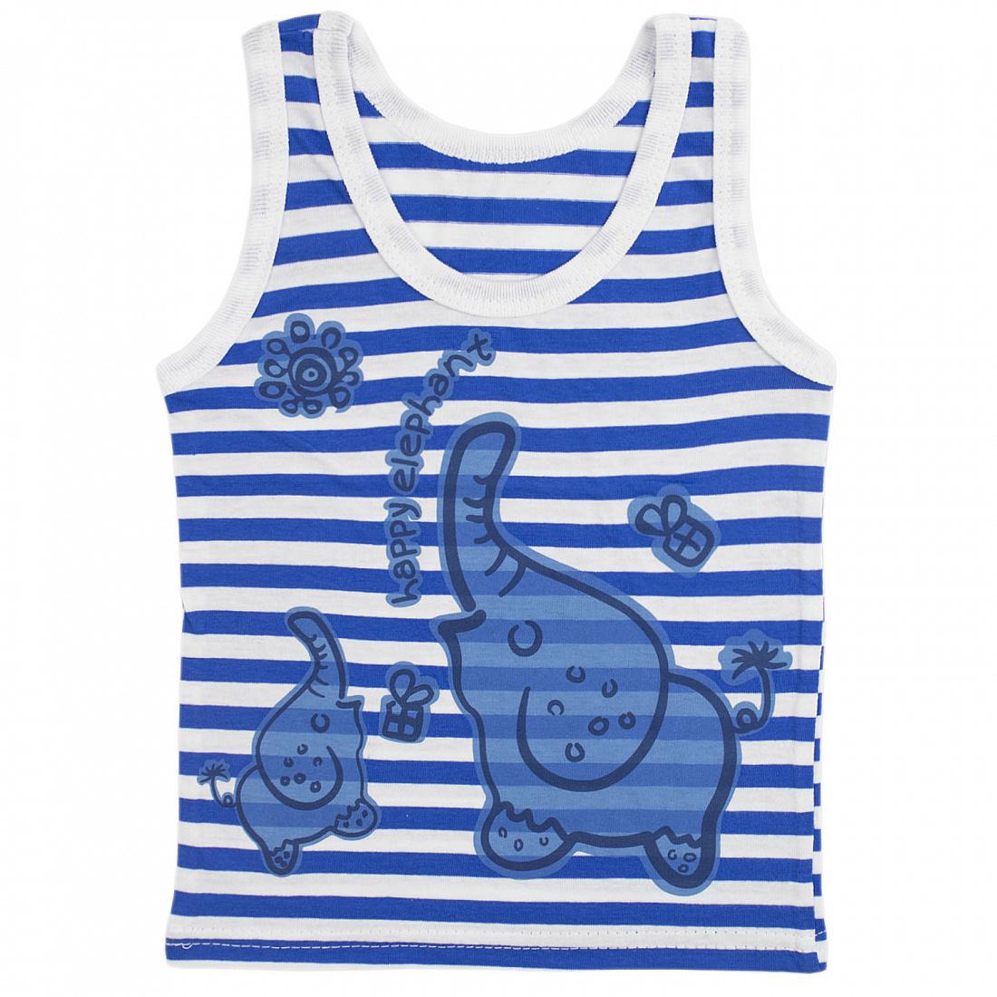Купить 022КПА, Майка детская Юлла, цв. синий р. 80, Детские футболки