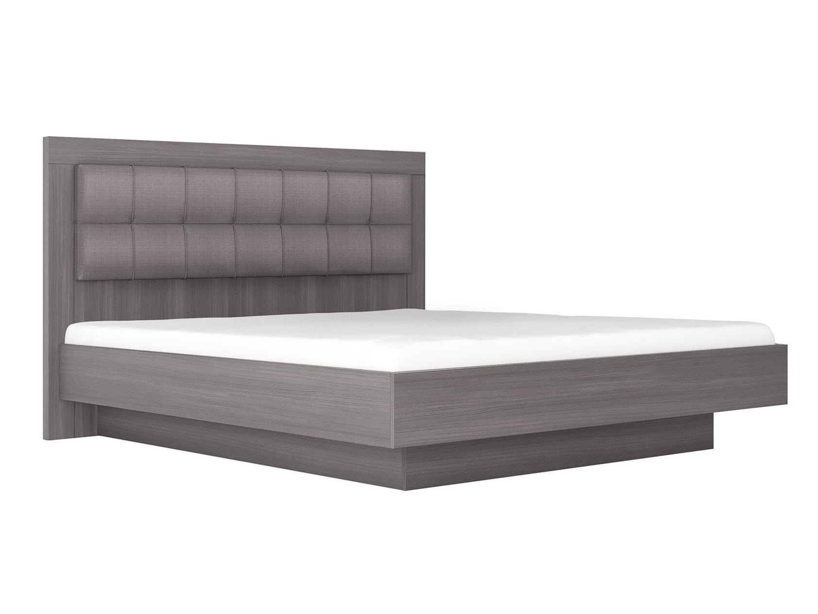 Двуспальная кровать Парма НЕО 5 Лиственница темная/Экокожа