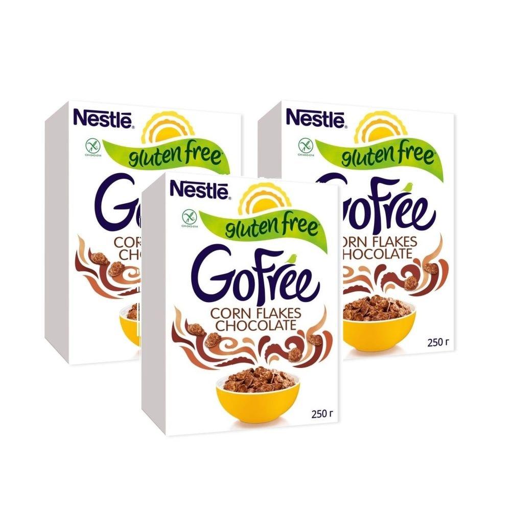 Завтрак Nestle Go free безглютеиновый шоколадный завтрак 3*250 г