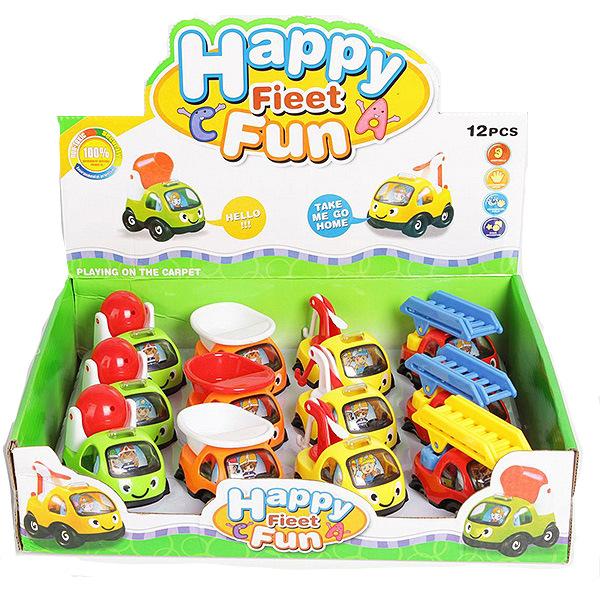 Купить Набор машинок Shenzhen toys Happy fieet fun, 12 шт., Игрушечные машинки