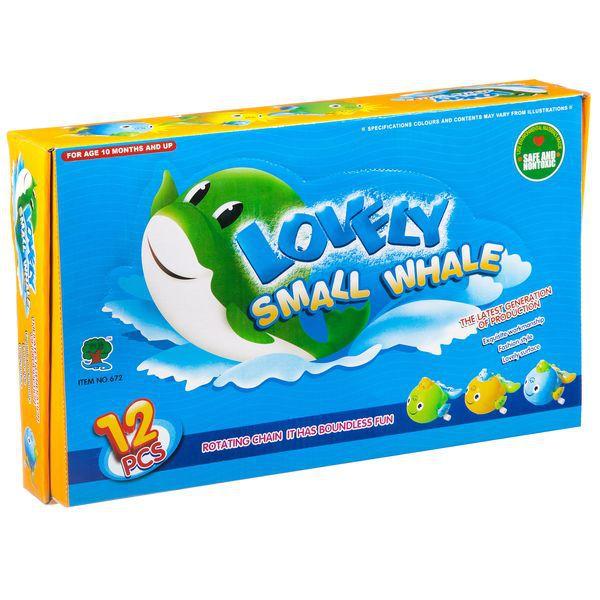 Купить Набор заводных игрушек Shenzhen toys Маленькие киты, 12 шт., Игрушки для купания
