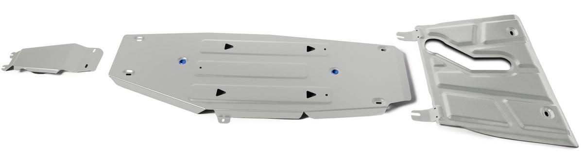 Защита картера, КПП, топливного бака и редуктора Rival  Toyota RAV4 CA40 АКПП , штампованн