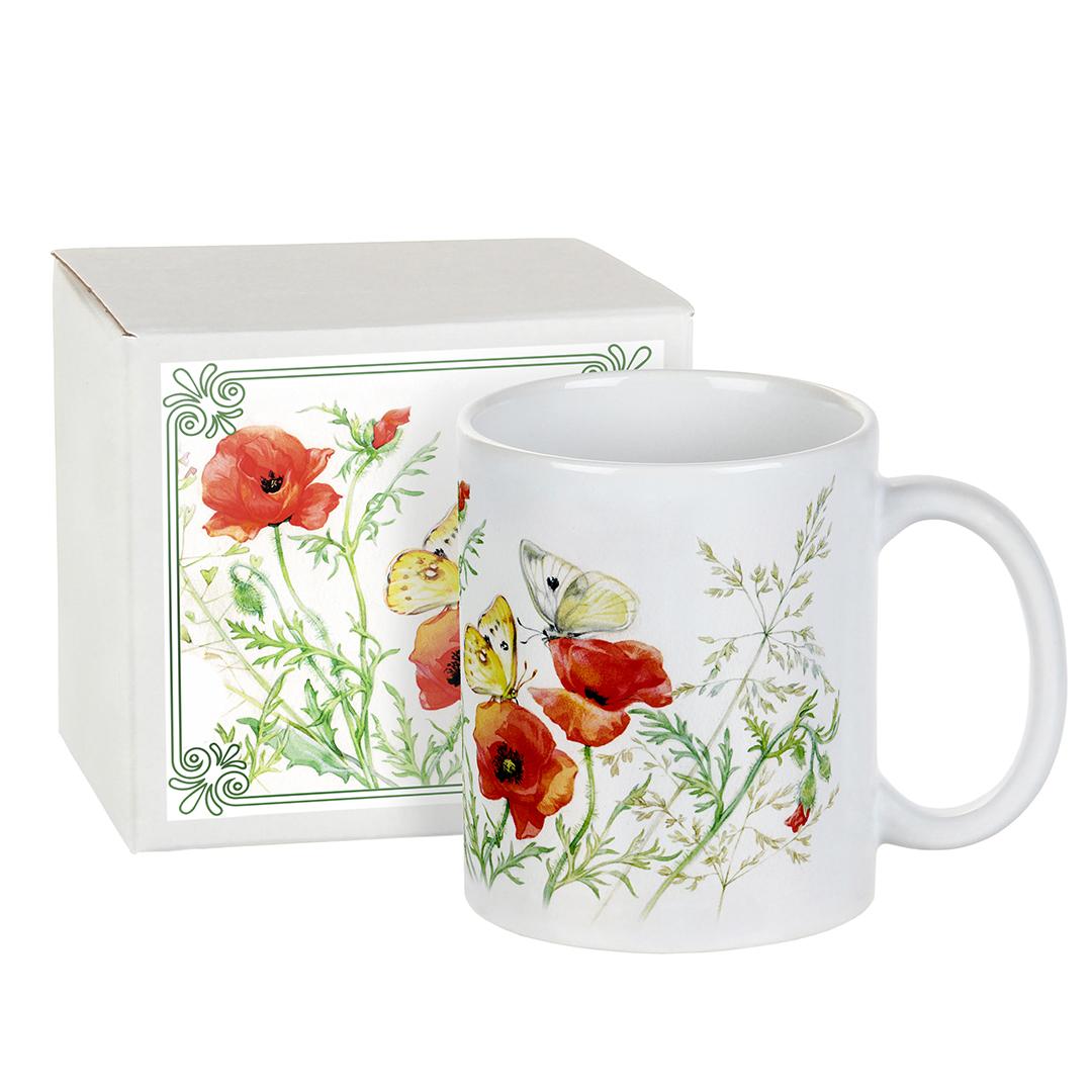 Город Подарков Подарочная кружка Луговые цветы: Маки