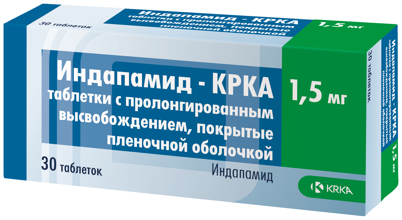 Индапамид КРКА таблетки пролонг.п.п.о.1,5 мг №30
