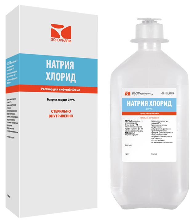 Купить Натрия хлорид-СОЛОфарм раствор для инфузий 0, 9% флакон 400 мл №1, Гротекс ООО