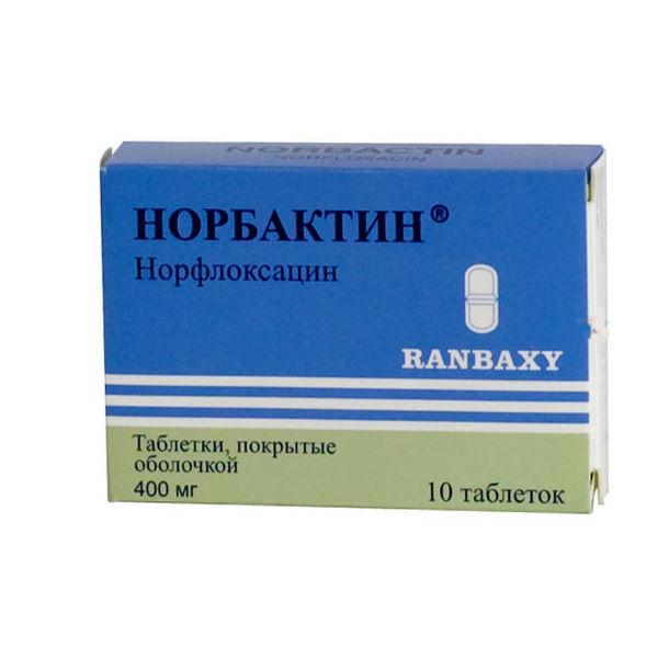 Норбактин тб 400 мг N10