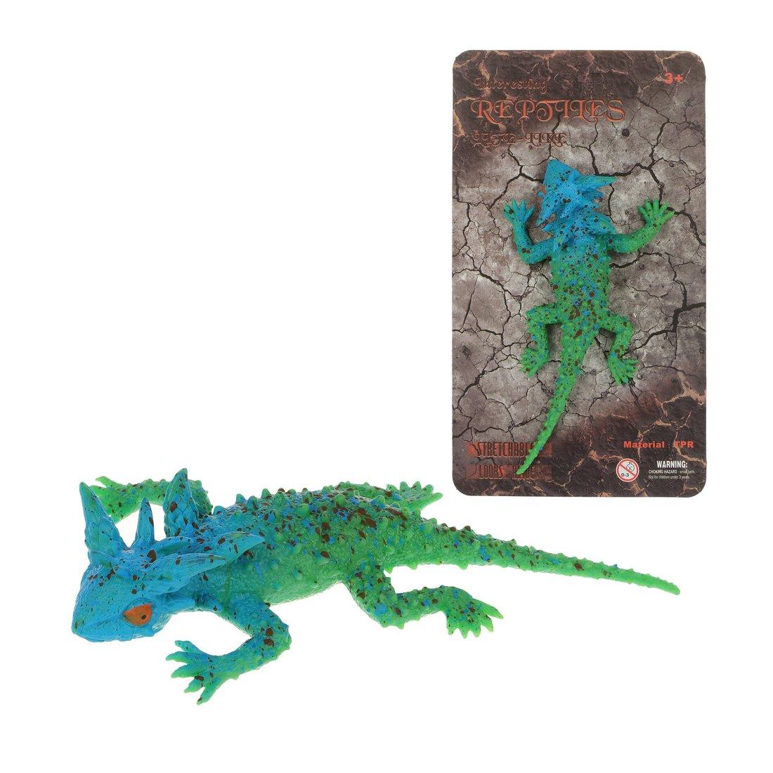 Игрушка-тянучка Наша игрушка Ящерица из мягкой резины фото