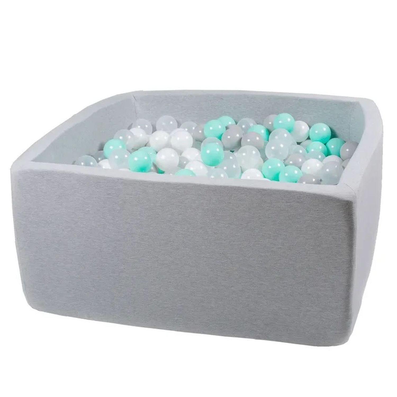 Купить Сухой бассейн Hotenok Квадро Волна, серый, 40 см + 200 шариков,