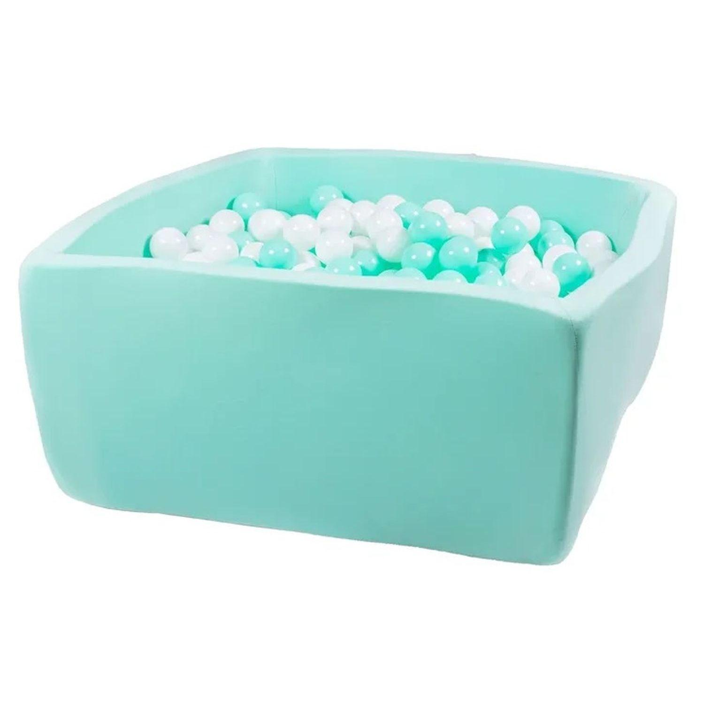 Купить Сухой бассейн Hotenok Квадро Морской прилив, мятный, 40 см + 200 шариков,