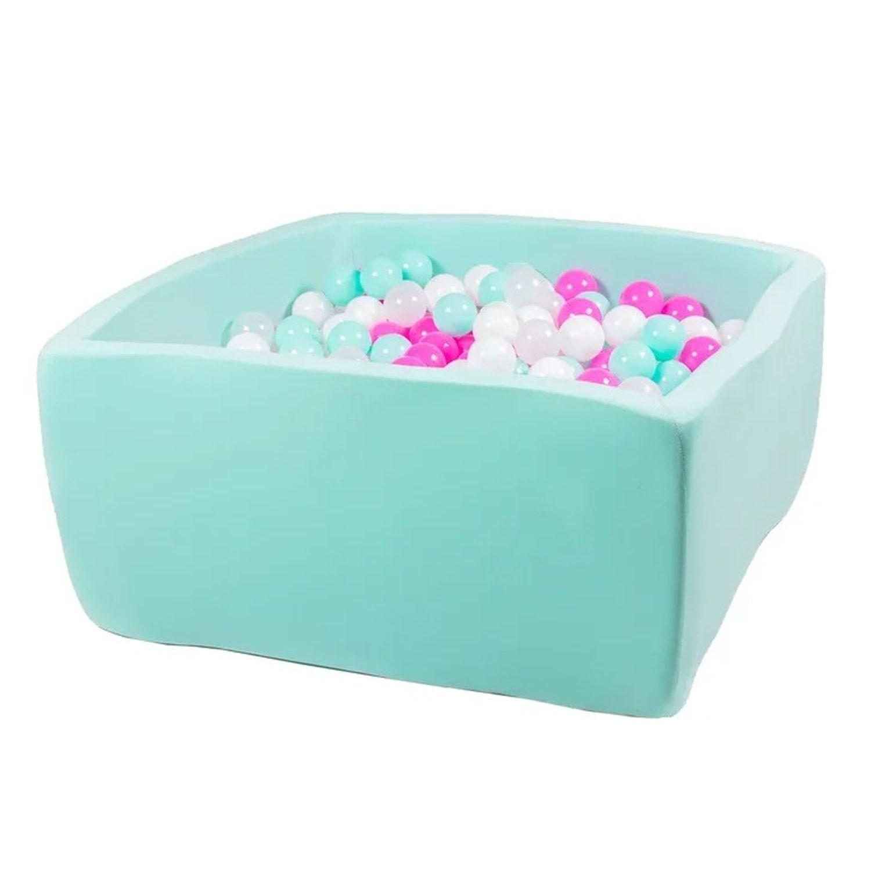 Купить Сухой бассейн Hotenok Квадро Клубничное мороженное, мятный, 40 см + 200 шариков,