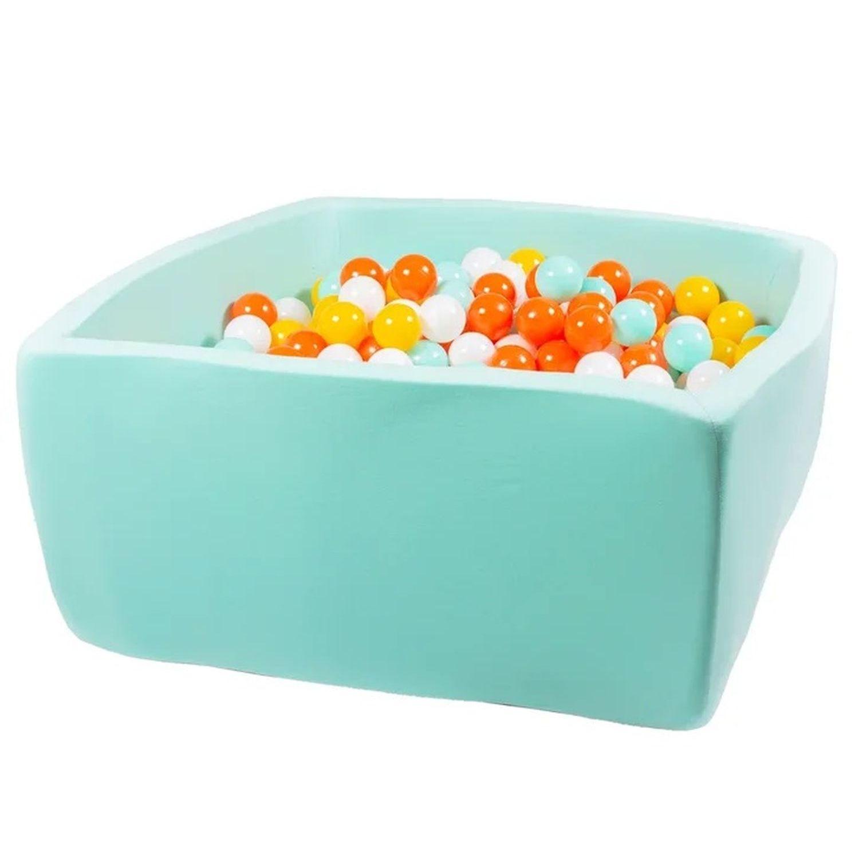 Купить Сухой бассейн Hotenok Квадро Подсолнух, мятный, 40 см + 200 шариков,