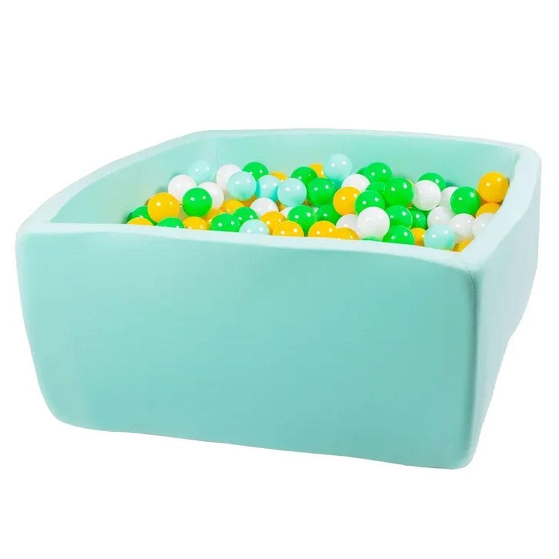 Купить Сухой бассейн Hotenok Квадро Счастливое лето, мятный, 40 см + 200 шариков,