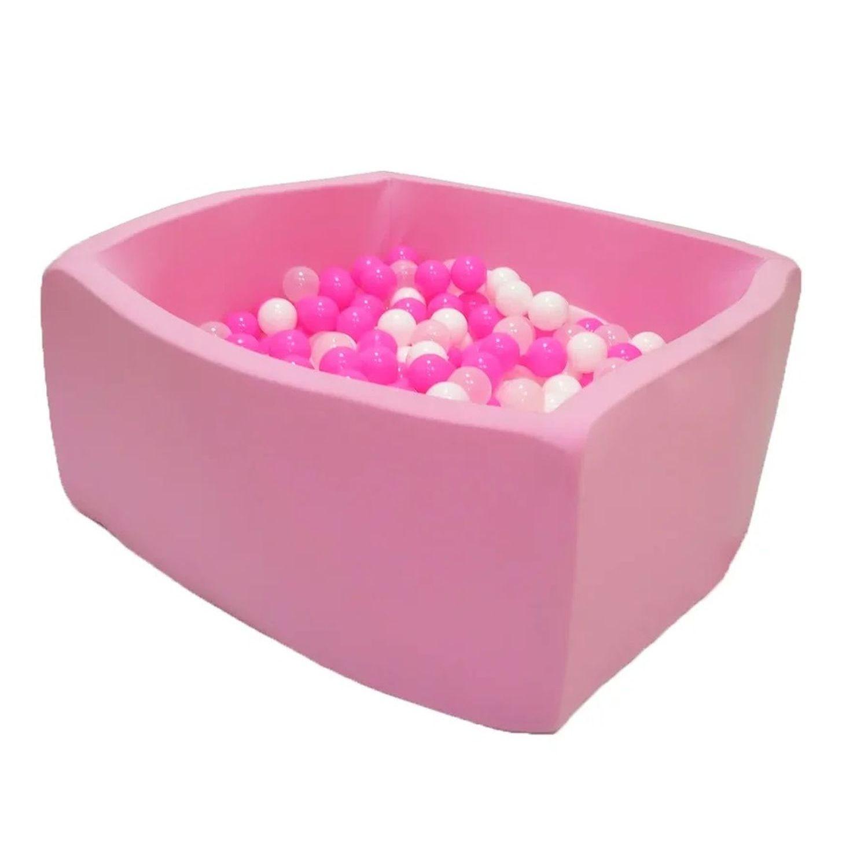Купить Сухой бассейн Hotenok Квадро Сияние, розовый, 40 см + 200 шариков,