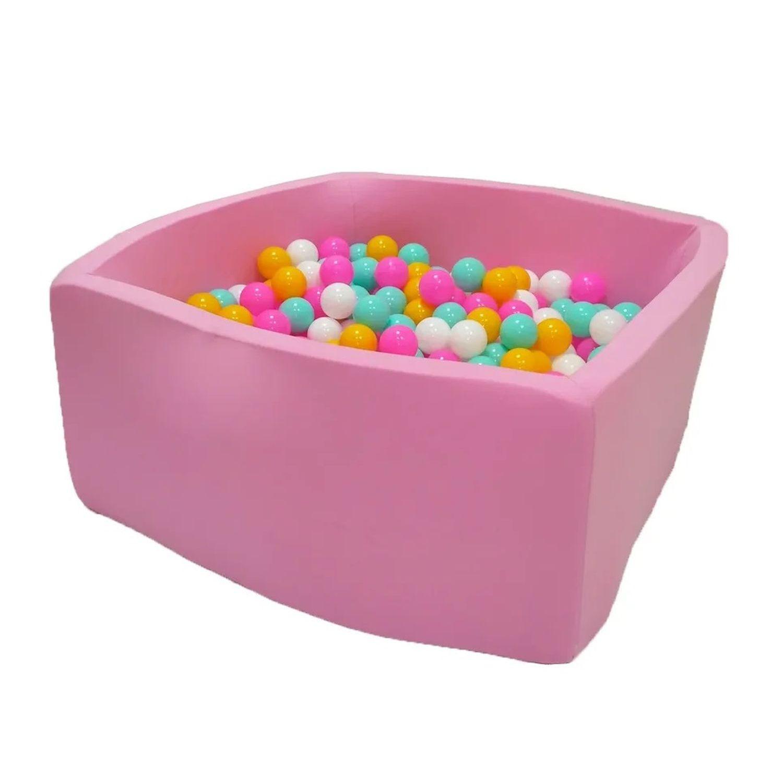 Сухой бассейн Hotenok Квадро Розовый цветок, розовый, 40 см + 200 шариков,  - купить со скидкой