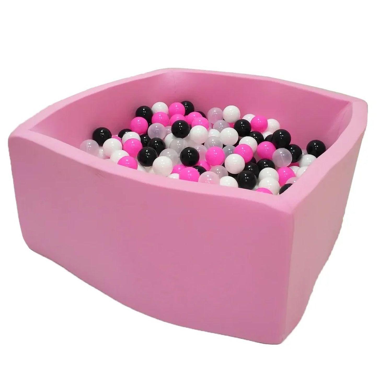 Купить Сухой бассейн Hotenok Квадро Розовая пантера, розовый, 40 см + 200 шариков,