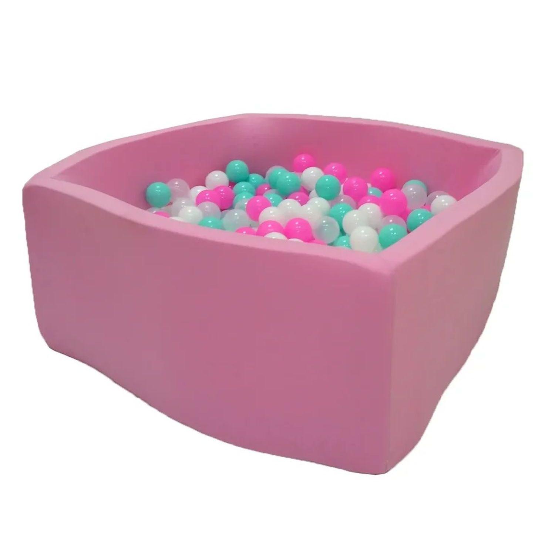 Купить Сухой бассейн Hotenok Квадро Розовая мечта, розовый, 40 см + 200 шариков,