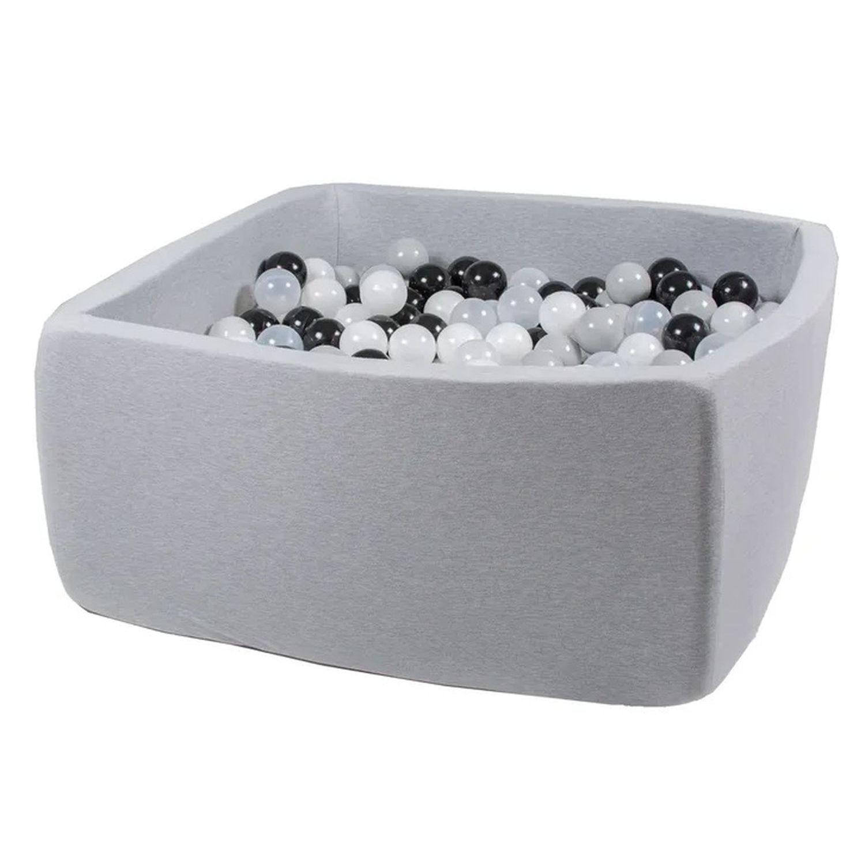 Купить Сухой бассейн Hotenok Квадро Морская пена, серый, 40 см + 200 шариков,