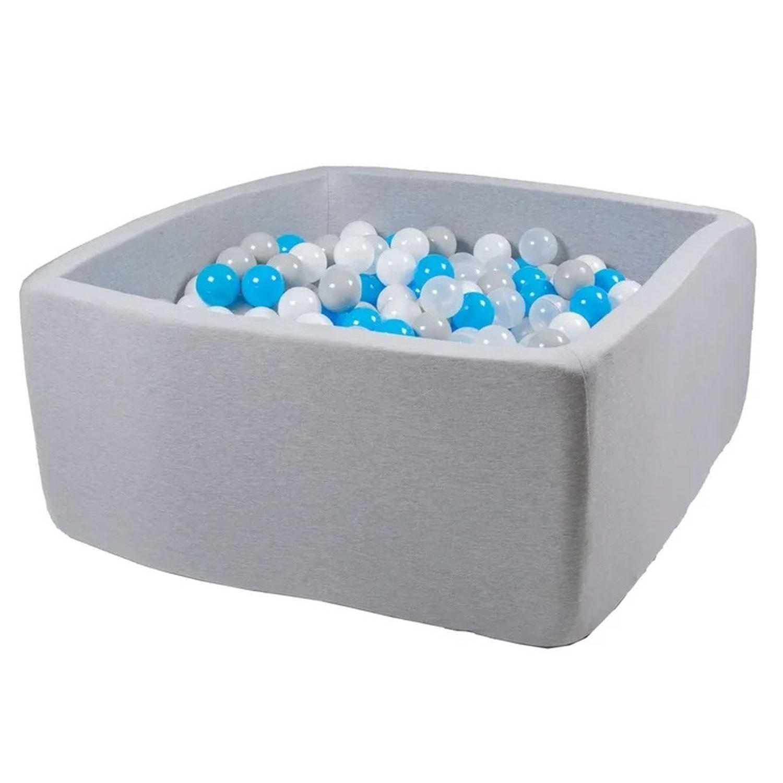 Купить Сухой бассейн Hotenok Квадро Небеса, серый, 40 см + 200 шариков,