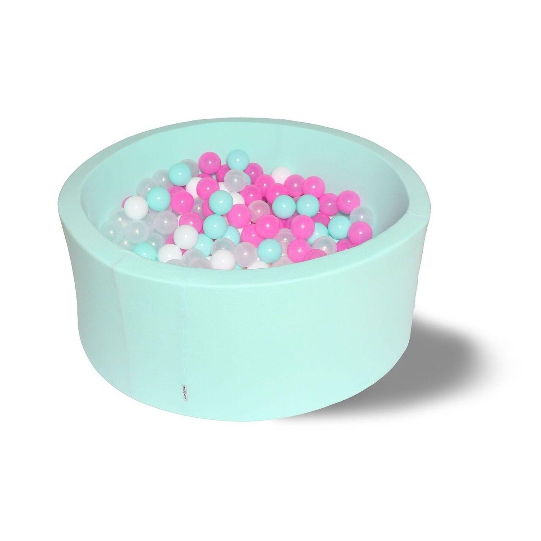 Сухой бассейн Hotenok Лайт Клубничное мороженное, мятный, 33 см + 200 шариков