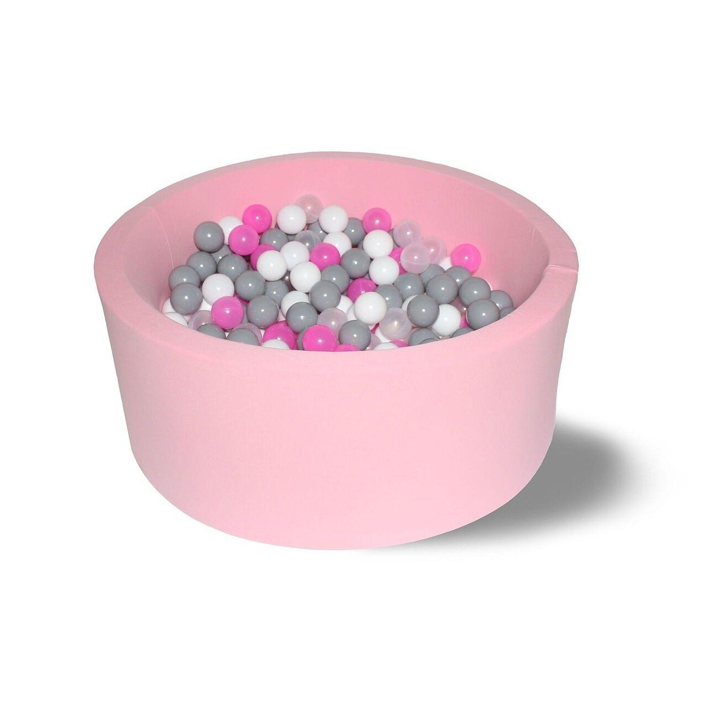Сухой бассейн Hotenok Лайт Розовые пузыри, 85х33