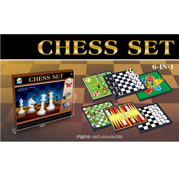 Купить Набор Игр 6 В 1 Шахматы Qijia Toys,