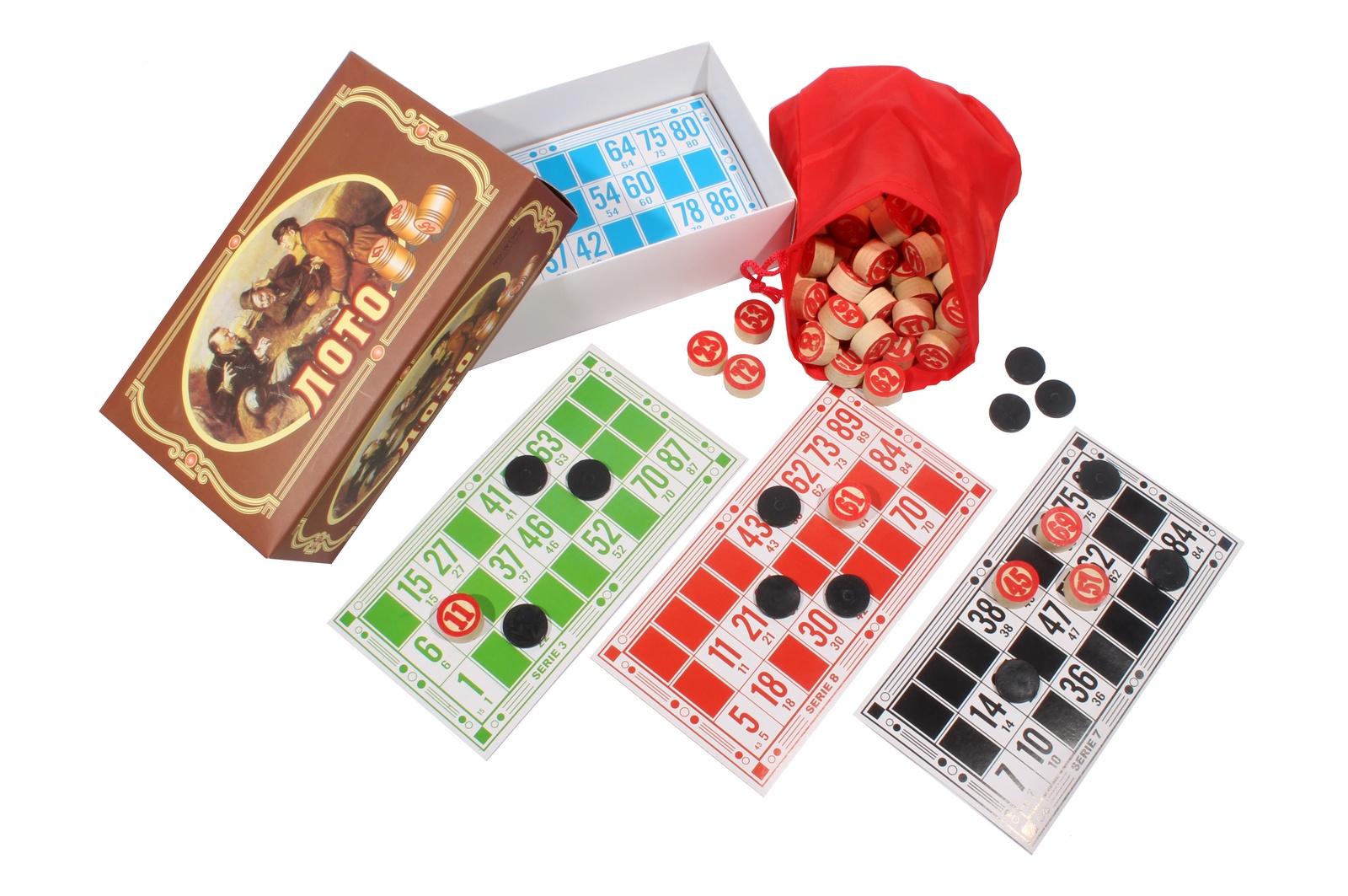 Купить Русское лото Рыжий кот деревянные бочонки, Семейные настольные игры