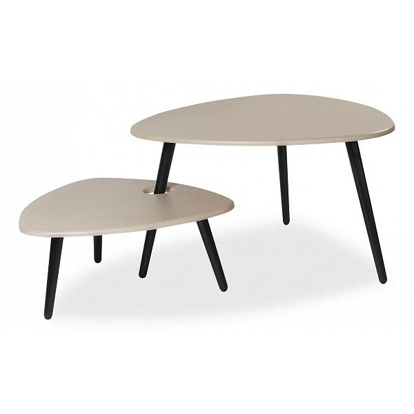 Журнальный столик Калифорния Стилгрей 60,5х61,5х27/77х78х46 см, серый