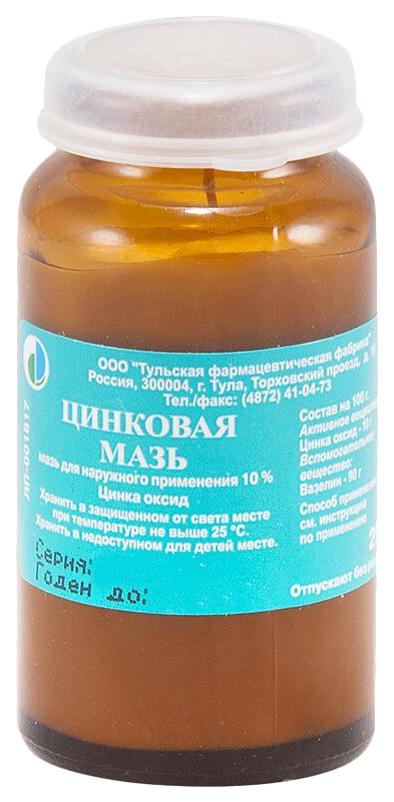 Цинковая мазь для наружн.прим.банка 25 г №1