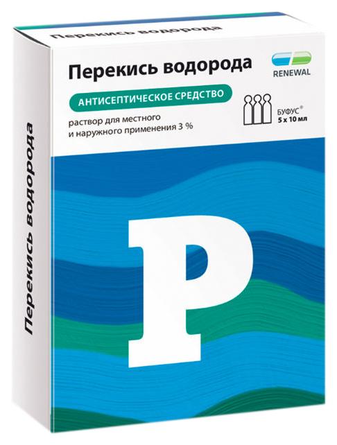 Купить Перекись водорода раствор наружн. 3% тюб-кап.с клап.10 мл №5 Renewal, Обновление ПФК