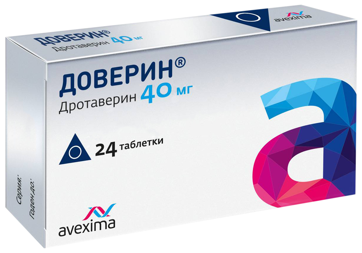 Доверин таблетки 40 мг №24