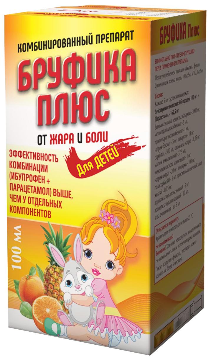 Бруфика Плюс сусп. для приема внутрь 100 мг+162.5 мг/5 мл флакон 100 мл